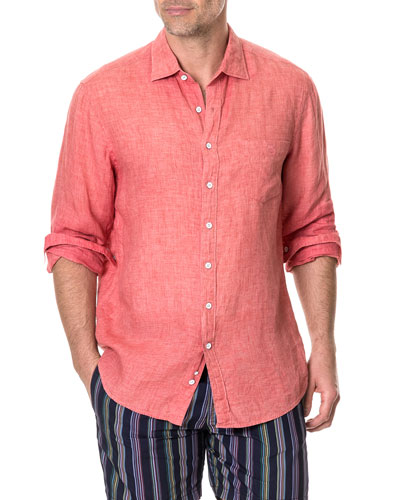 Men's Selwyn Huts Faded Linen Sport Shirt