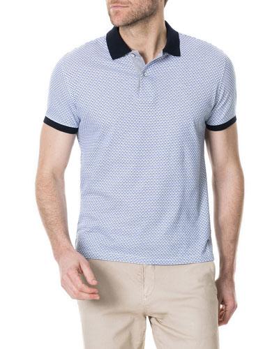 Men's Roys Hill Geometric Jacquard Polo Shirt