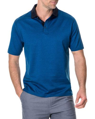 Men's Kirklands Micro-Diamond Jacquard Polo Shirt