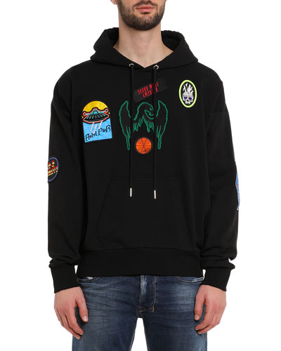Men's Alby Patched Pullover Hoodie