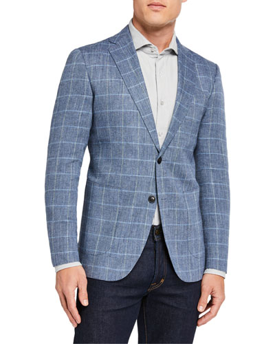 Men's Ironside Check Two-Button Jacket