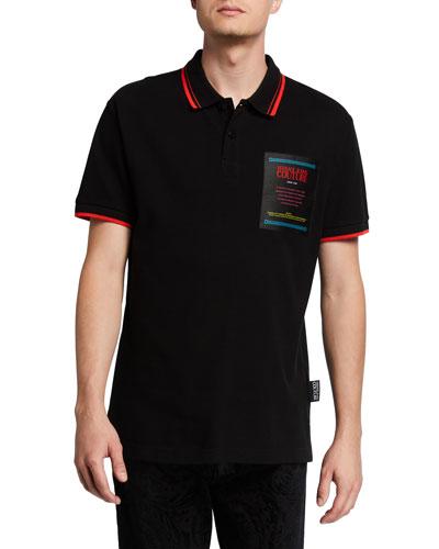 Men's Multicolor Warranty Patch Polo Shirt