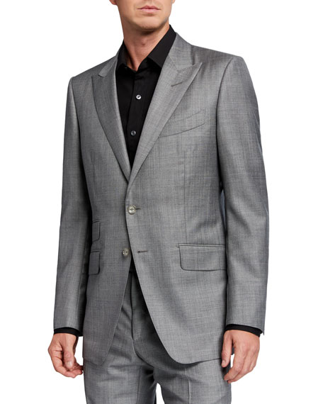 TOM FORD Men's O'Connor Sharkskin Wool Two-Piece Suit