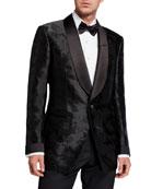 TOM FORD Men's Camo-Print Satin Dinner Jacket