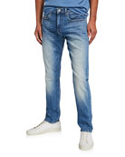 Joe's Jeans Men's Asher Fernwood Slim-Fit Faded Selvedge