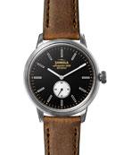 Shinola Men's 42mm Bedrock Sub-Second Leather Watch