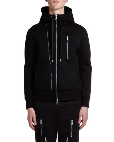 Men's Multi-Zipper Hoodie