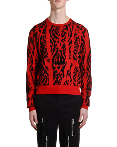 Men's Ikat Crewneck Sweater