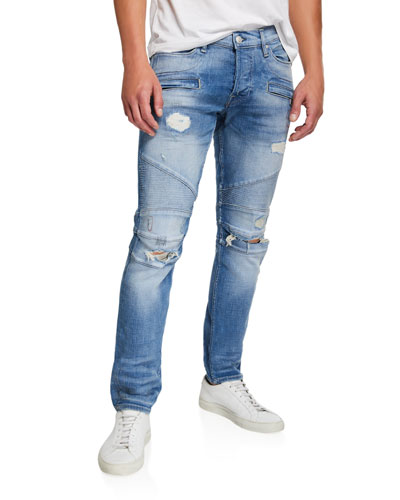 Men's The Blinder Biker Knee-Rip Jeans