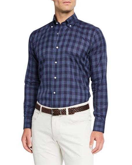 Peter Millar Men's Plaid Cotton Sport Shirt