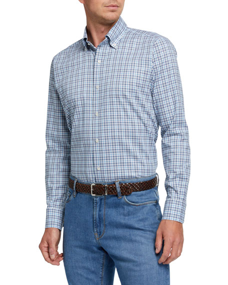 Peter Millar Men's Small-Plaid Sport Shirt
