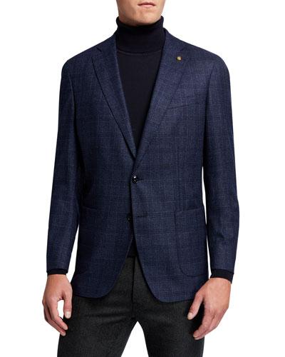 Men's Hurlingham Plaid Wool Sport Jacket