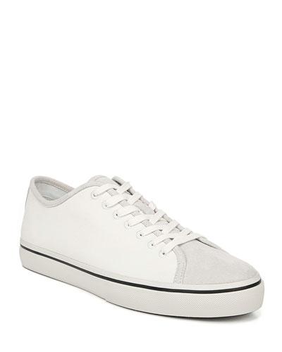 Men's Farrell Canvas & Suede Low-Top Sneakers