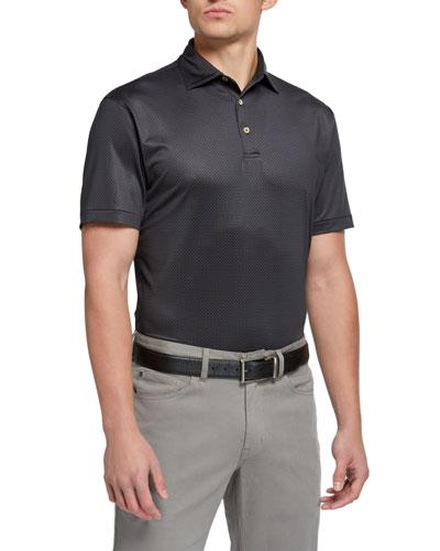 Men's Royal-Print Branch Polo Shirt