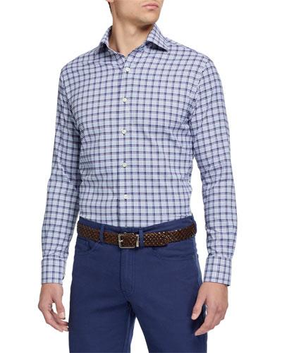 Men's Craft Small-Check Sport Shirt