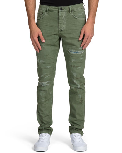 Men's Ripped Stitched Chino Pants