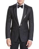 Dsquared2 Men's Sequin Wool/Silk Tuxedo Jacket