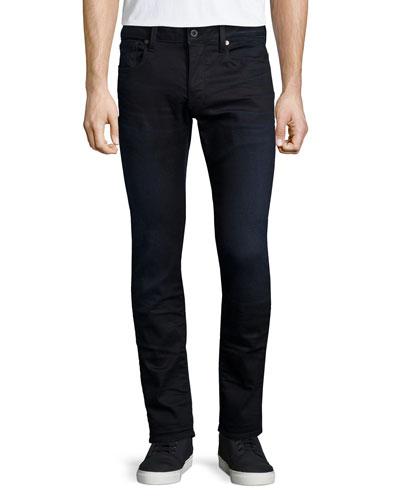 3100 Slim Aged Denim Jeans, Indigo