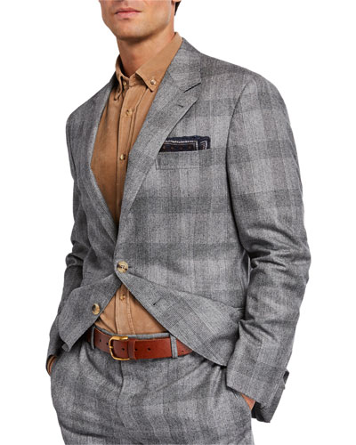 Men's Prince of Wales Check Two-Piece Suit