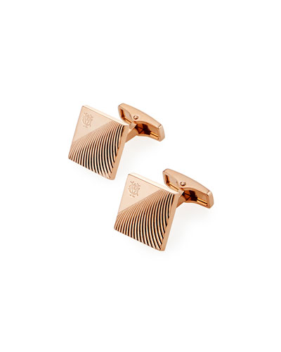 Diagonal Stroke Rose Gold-Plated Cufflinks
