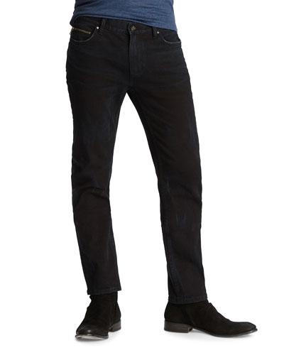 Men's Chelsea-Fit Washed-Denim Jeans with Ticket Pocket