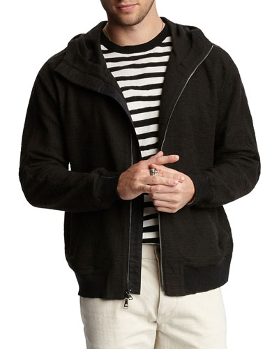 Men's Easy-Fit Zip-Front Hoodie