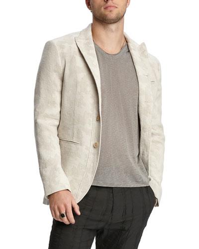 Men's Slim-Fit Linen Two-Button Jacket