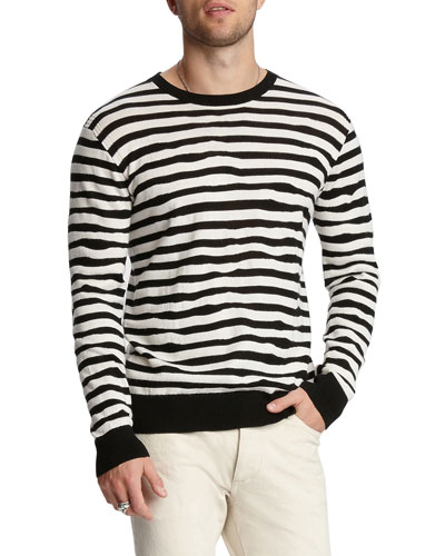 Men's Random-Stripe Regular-Fit Sweater