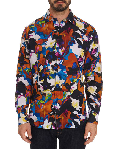 Men's Fantasy Florals Graphic Sport Shirt