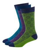 Ace & Everett Men's 3-Pack Jackpot Jacquard Knit