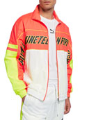 Puma Men's Logo-Typographic Colorblock Track Jacket