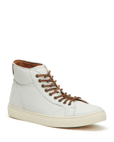 Men's Walker Vintage-Inspired Leather Court Sneakers
