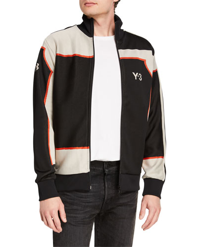 Men's Colorblock Jacquard Track Jacket