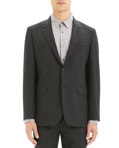 Men's Thurlow-Print Chambers Check Suit Jacket