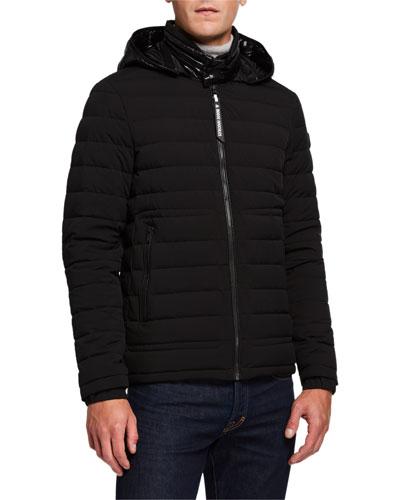 Men's Rock Quilted Jacket w/ Nylon Hood