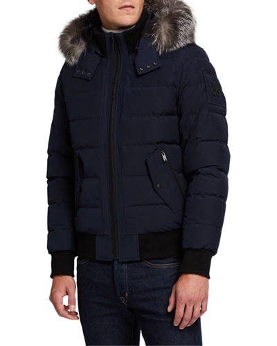 Men's Scotchtown Bomber Jacket with Fur Hood
