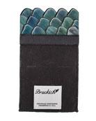 Brackish Bowties Men's Granite Pheasant Feather Pocket Square