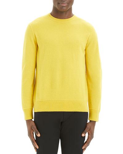 Men's Hilles Solid Cashmere Crewneck Sweater