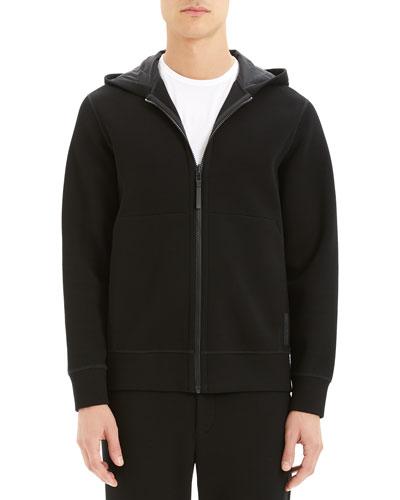 Men's Double-Hooded Scuba-Rib Active Jacket