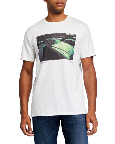 Men's Vintage Car Graphic T-Shirt