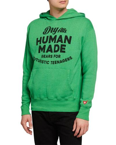 Men's Typographic Pullover Hoodie