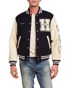 HUMAN MADE Men's Dry-Alls Wool Varsity Jacket