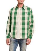 HUMAN MADE Men's Buffalo Check Double-Pocket Sport Shirt