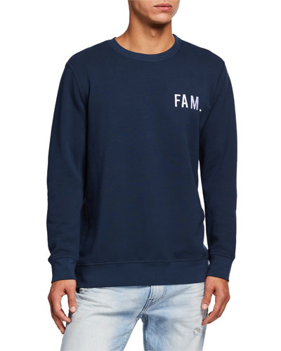 Men's FAM Logo Cotton Pullover Sweatshirt