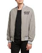 HUMAN MADE Men's Dry Alls Zip-Front Bomber Jacket