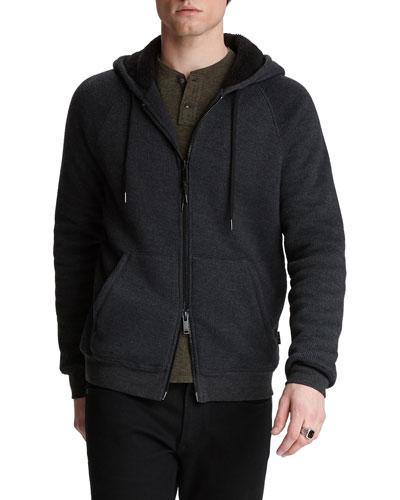 Men's Trenton Sherpa-Lined Zip-Front Hoodie