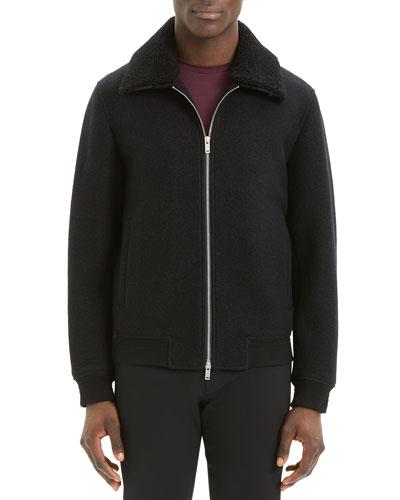 Men's Wyatt Bergen Faux-Fur-Collar Jacket
