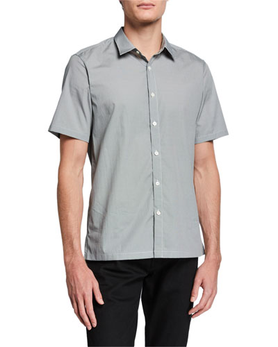 Men's Irving Morris-Print Short-Sleeve Sport Shirt