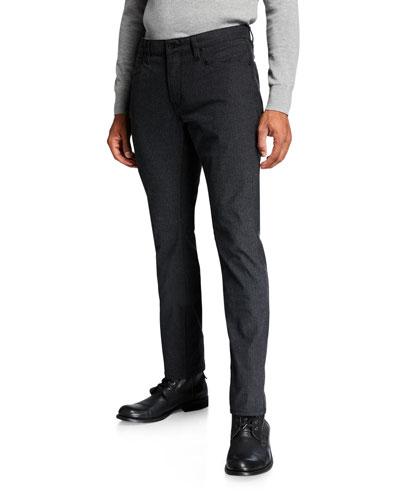 Men's Bowery Slim-Straight Pinstripe Pants