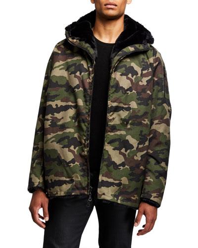 Men's Reversible Hooded Zip-Front Jacket
